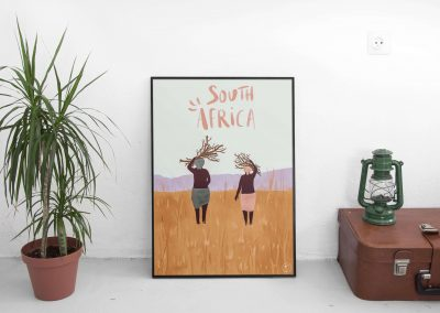 illustration deux femmes africaines