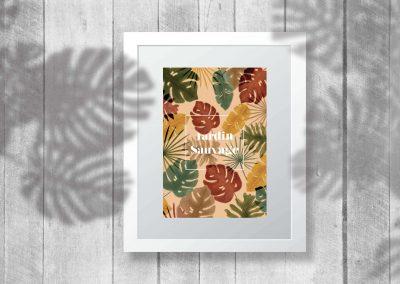 illustration plantes tropicales