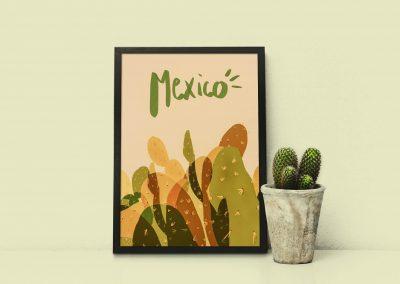 illustration cactus Méxique