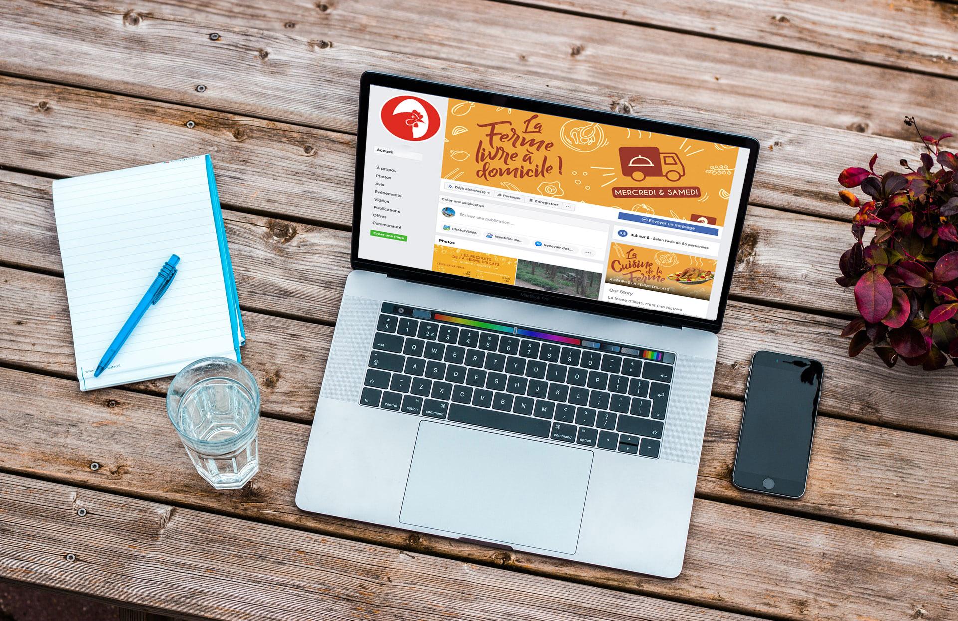 visuel web pour la Ferme d'Illats